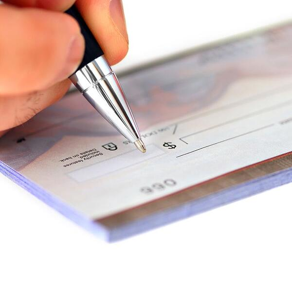 Writing a check that will be held expedited funds act