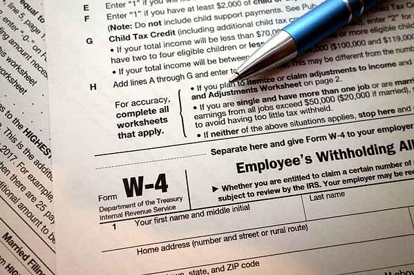 IRS Withholding Form W-4