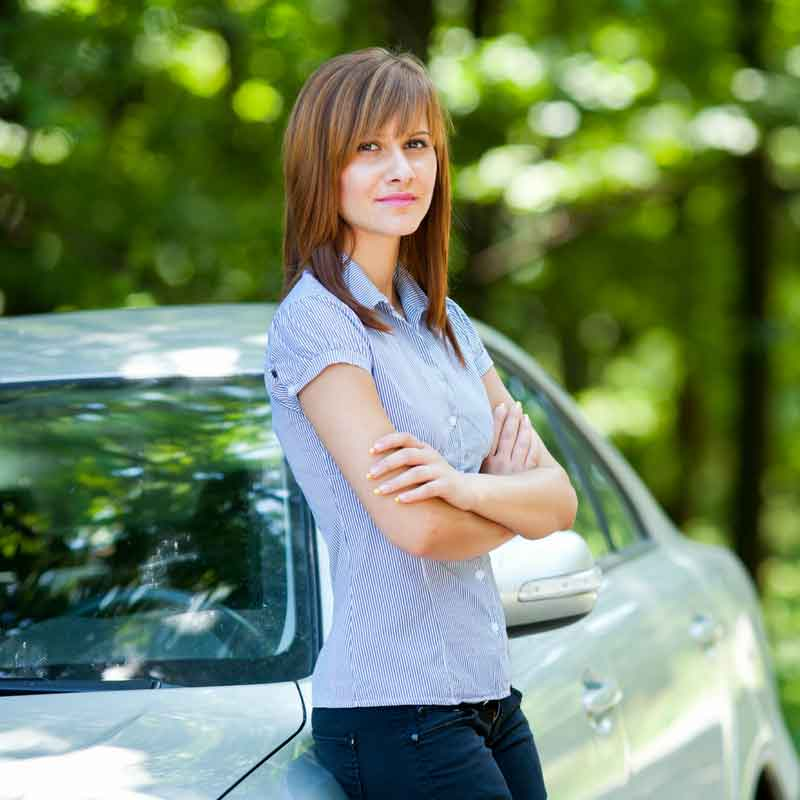 Woman-with-car