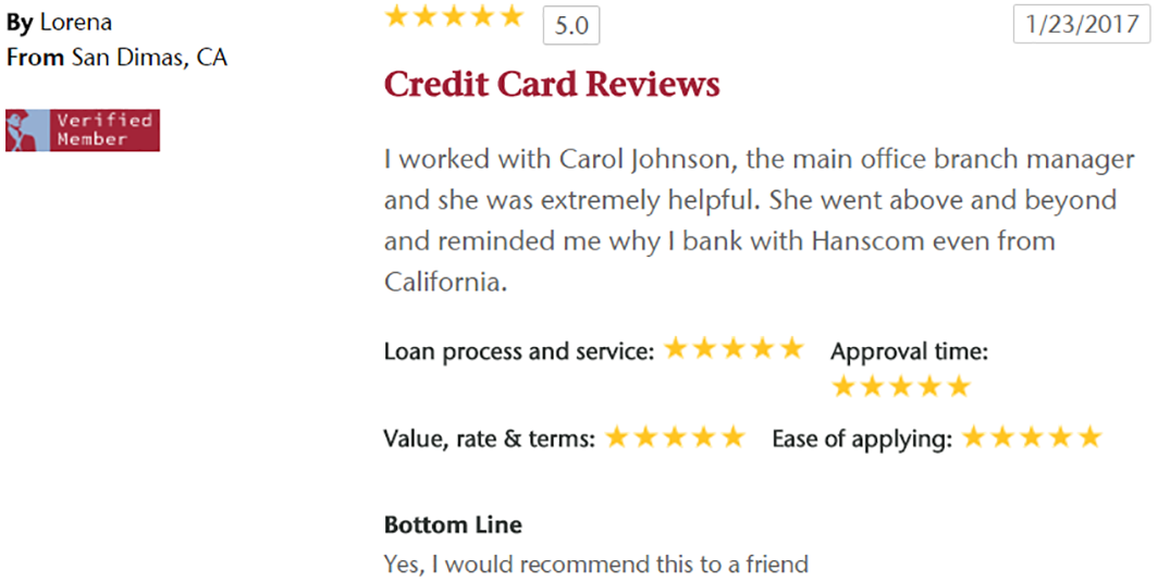Credit Card Reviews for HFCU