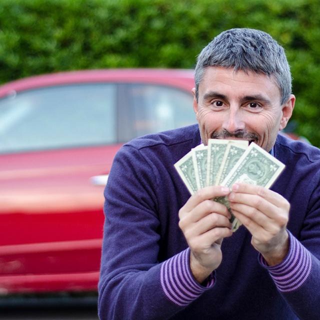 man sells car