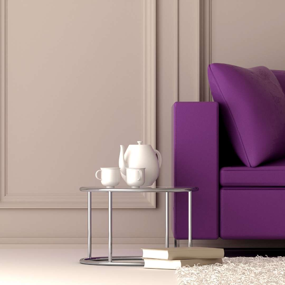 purple couch purchased with deferred interest promotion