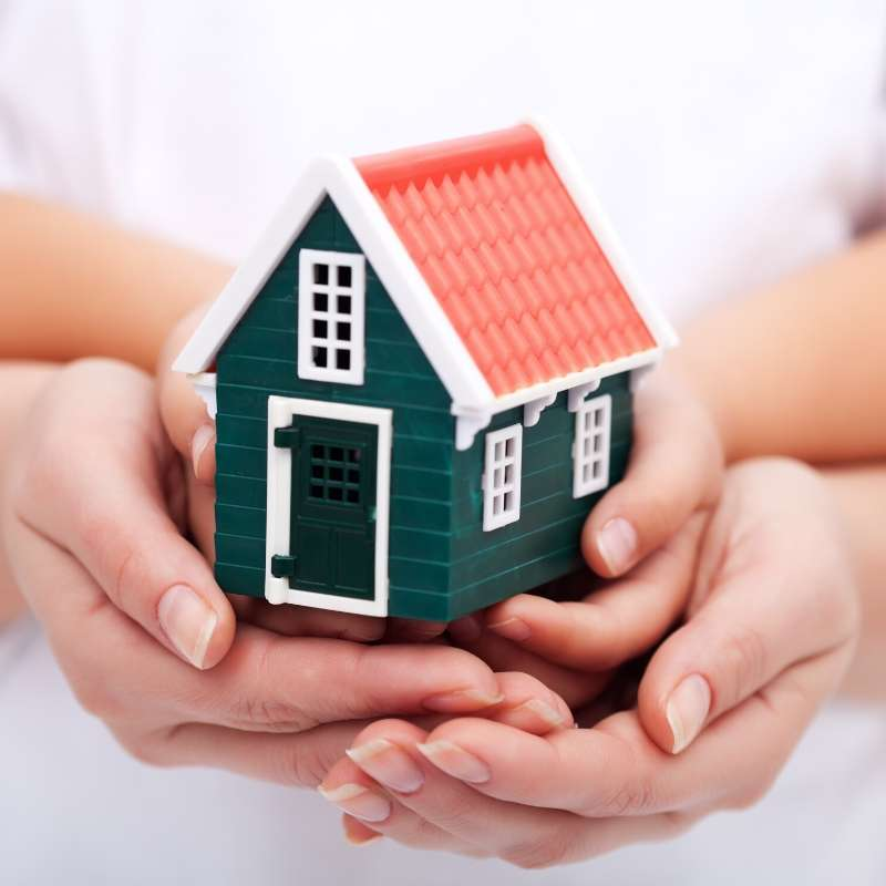 small house in hands mortgage forbearance