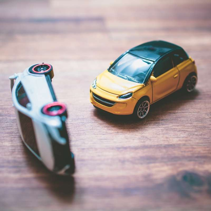 toy cars in accident