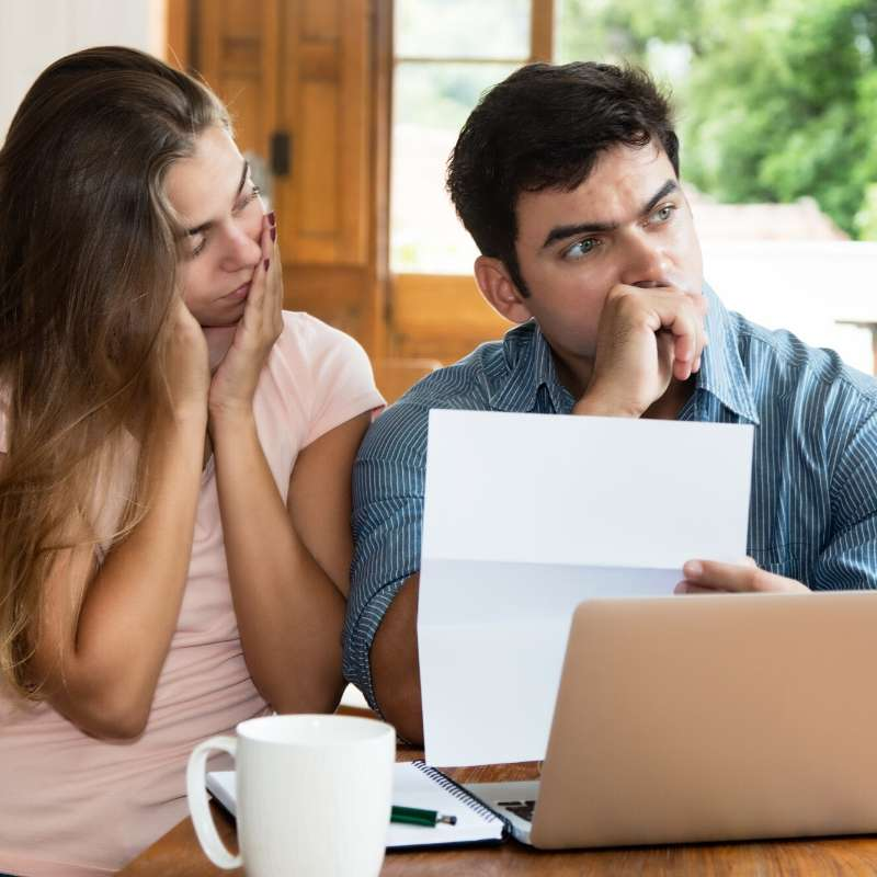 couple experiencing financial infidelity