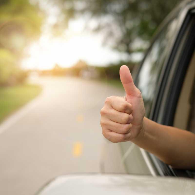 thumbs up refinanced car