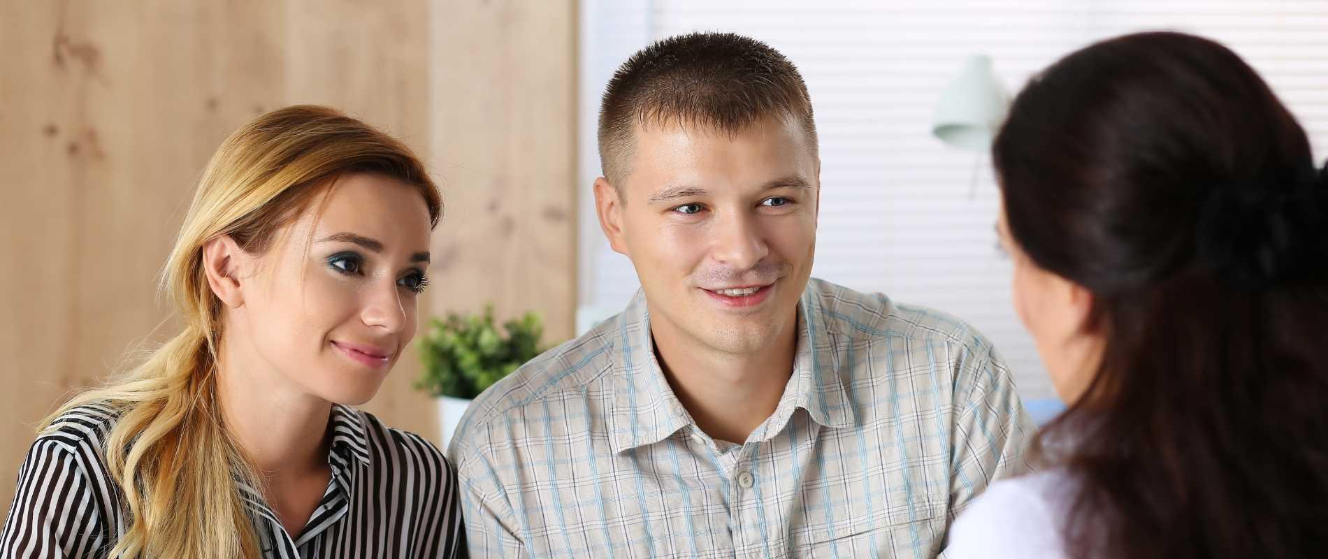 woman and man loan payoff