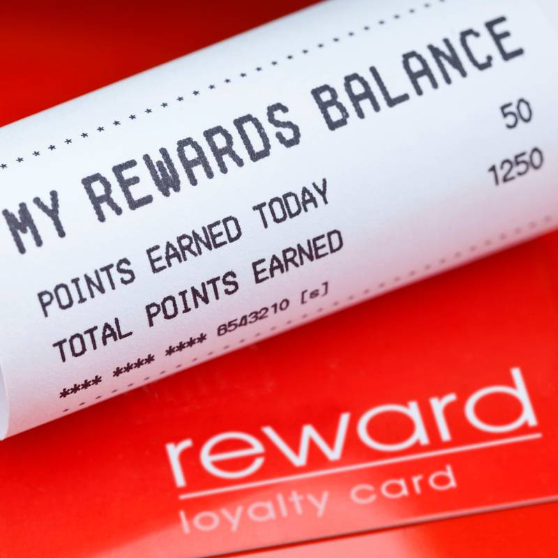 loyalty rewards receipt